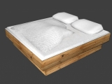Double bed created by Dinus Saurus